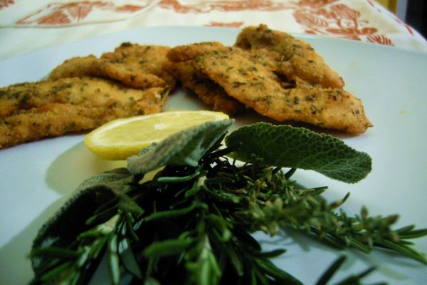Breaded rabbit with Provencal herbs