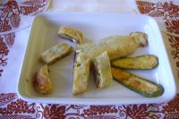 savory strudel with cooked ham and zucchini