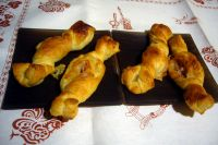 candy puff pastry with ham