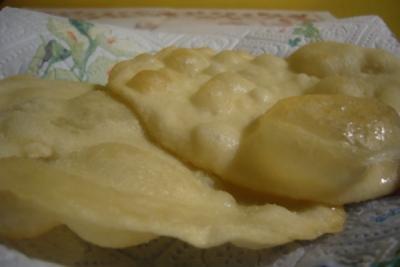Crescentine of gebakken dumplings