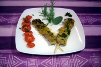 thin turkey kebabs