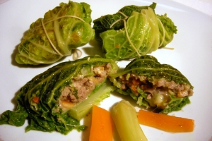 Savoy cabbage dumplings