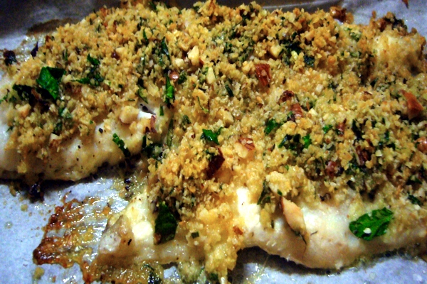 Fillets of cod au gratin