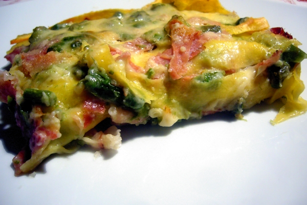 Lasagnetta asparagus and bacon