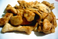 Chicken with mushrooms and soy sauce