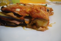 Aubergine parmigiana angereichert