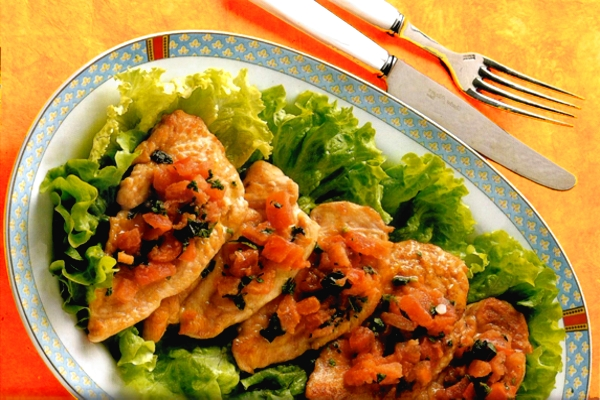 pechuga de pollo con jengibre y albahaca