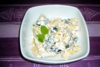 Rigatoni with eggplant and ricotta