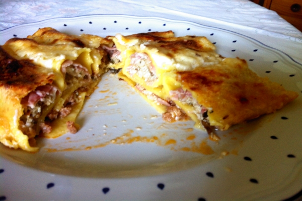 Cannelloni Cooked Ham and Artichokes