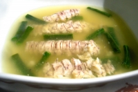 Mantis shrimp broth with green beans