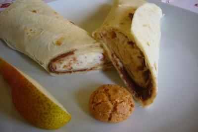 piadina (soort Riccione) met mascarpone en nutella